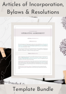 Articles of Incorporation, Bylaws & Resolutions