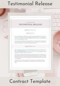 Testimonial Release