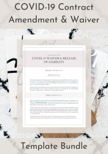 COVID 19 Contract Amendment & Waiver