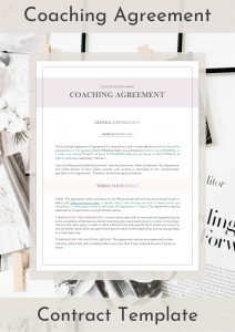 Coaching Agreement